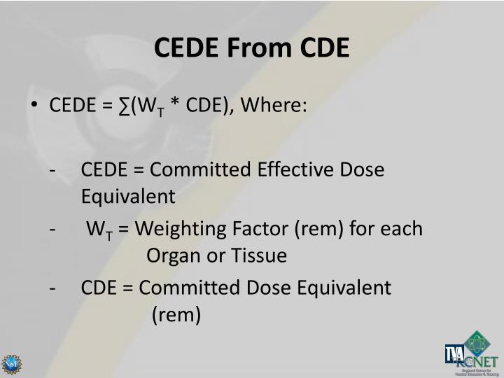 CEDE From CDE