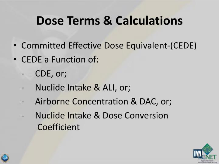 Dose Terms & Calculations