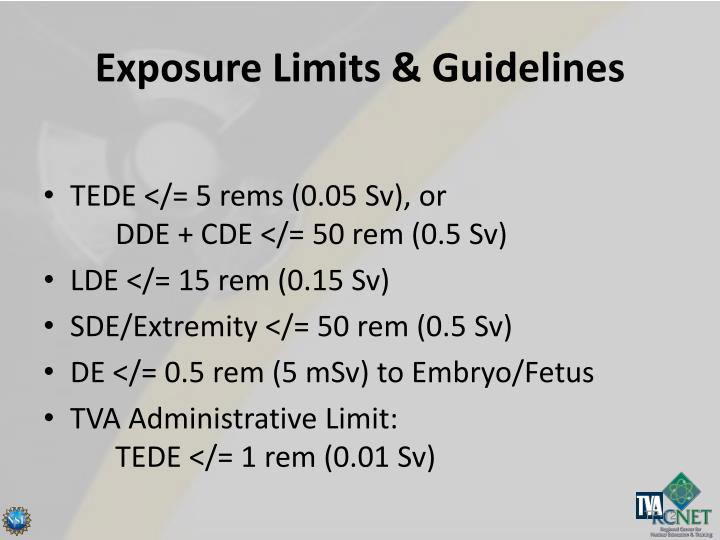 Exposure Limits & Guidelines
