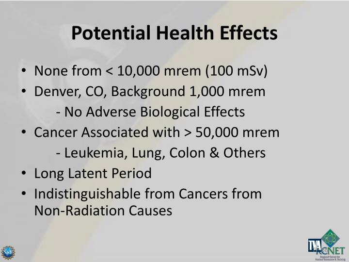Potential Health Effects