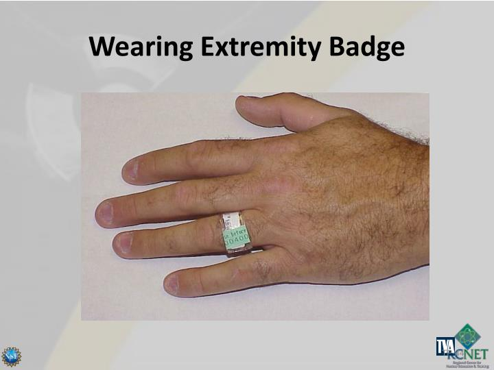 Wearing Extremity Badge