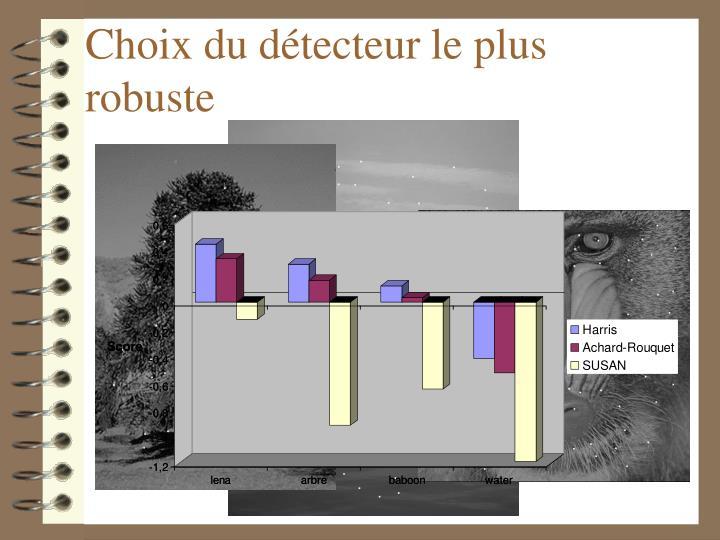 Choix du détecteur le plus robuste