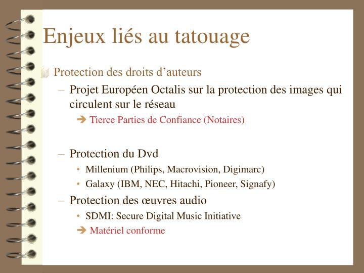 Enjeux liés au tatouage