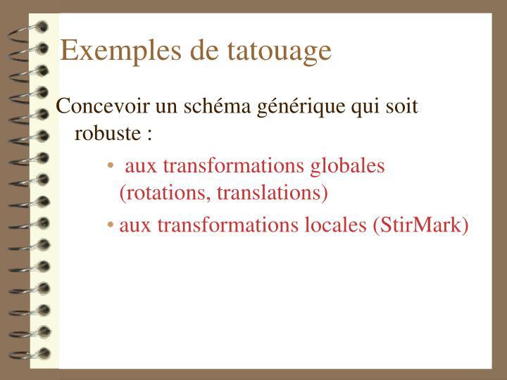 Exemples de tatouage