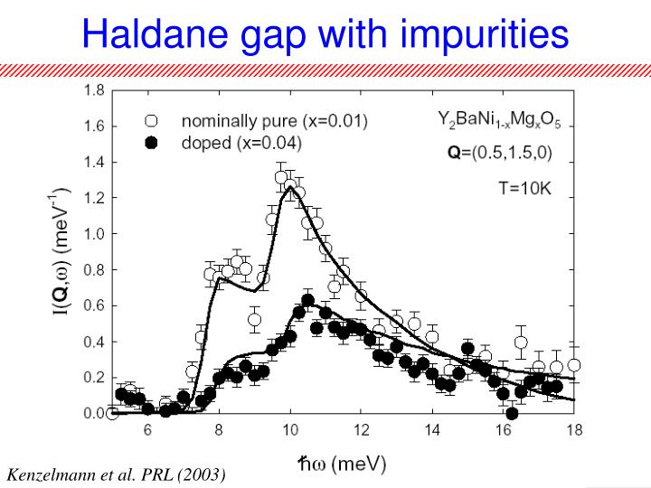 Haldane gap with impurities
