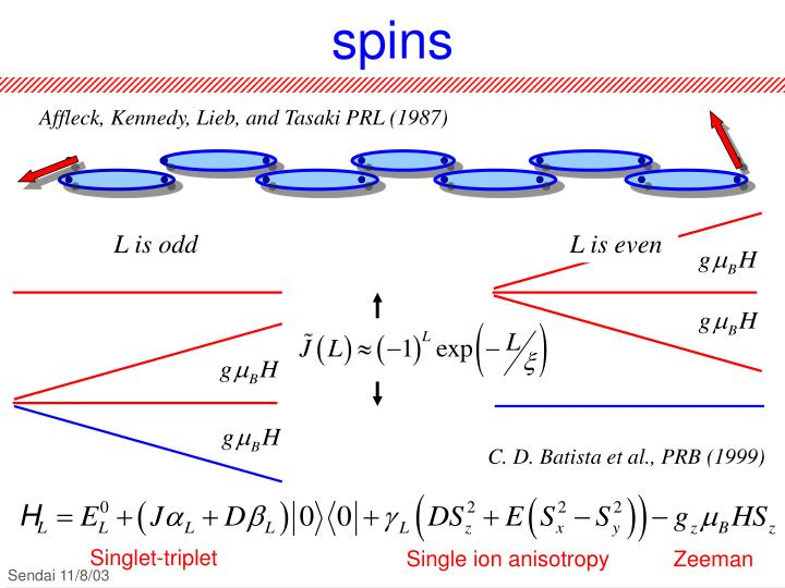 Minimal model for chain end spins