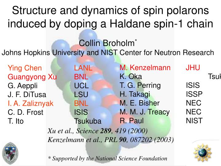 structure and dynamics of spin polarons induced by doping a haldane spin 1 chain