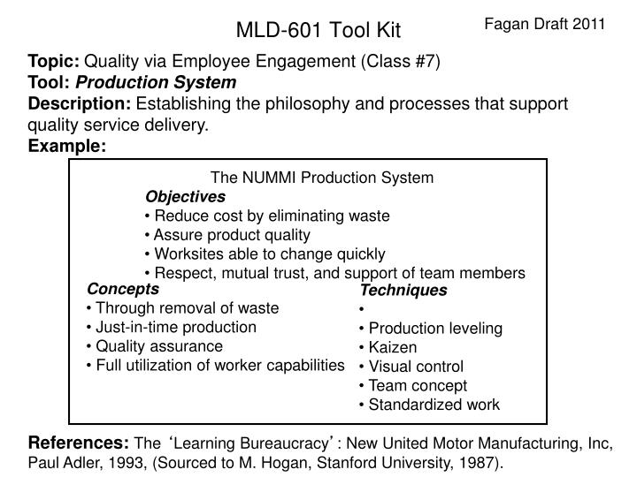 The NUMMI Production System