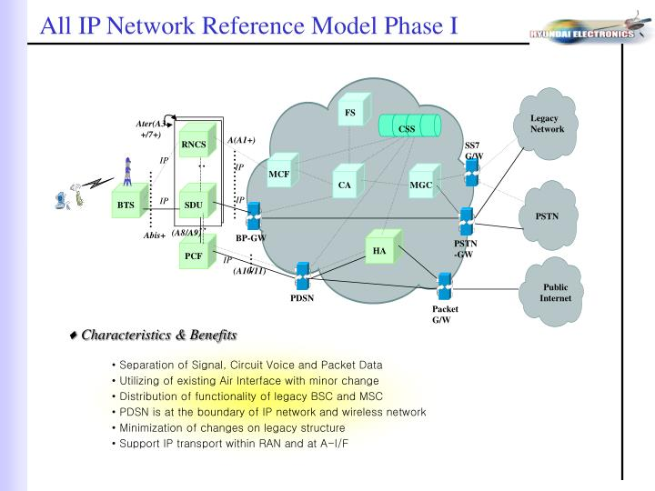 All IP Network Reference Model Phase I