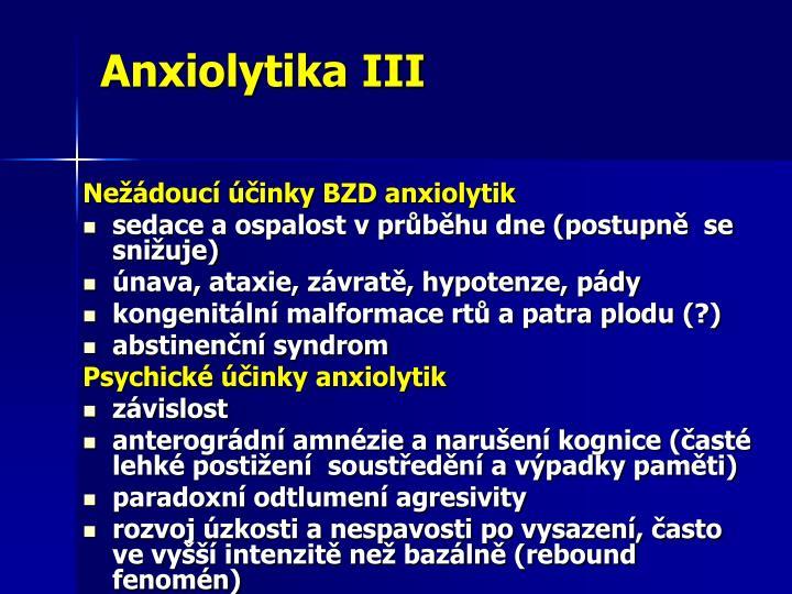 Anxiolytika III