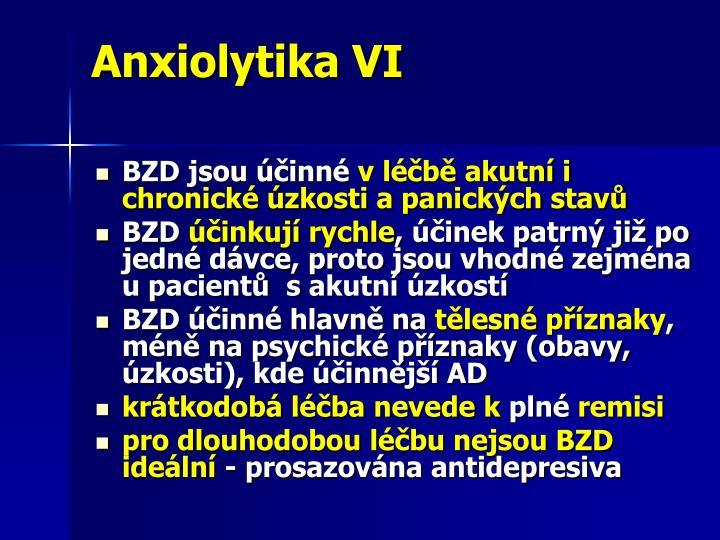 Anxiolytika VI