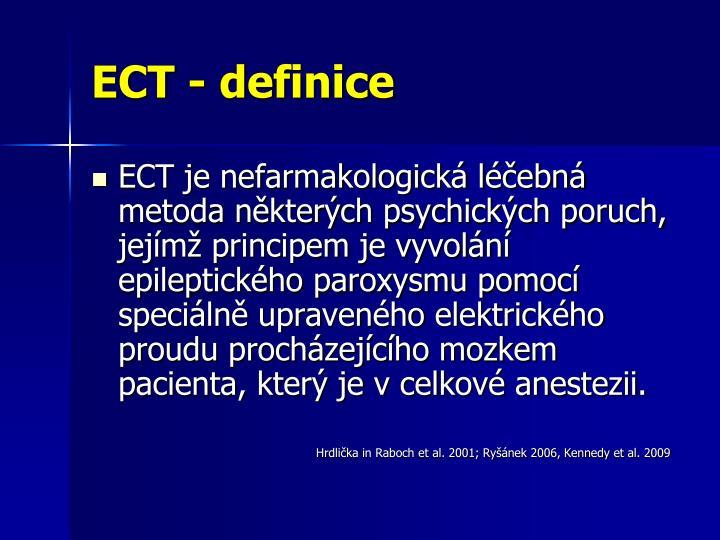 ECT - definice