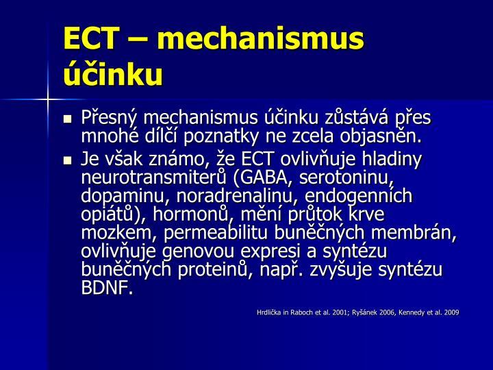 ECT – mechanismus účinku