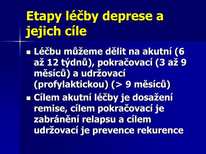 Etapy léčby deprese a jejich cíle