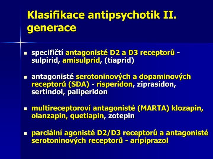 Klasifikace antipsychotik II. generace