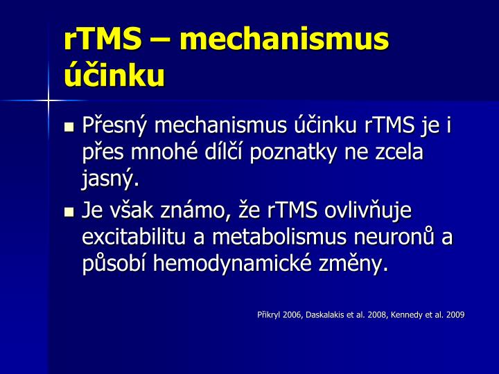 rTMS – mechanismus účinku