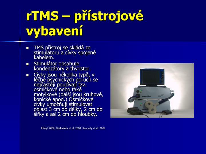 rTMS – přístrojové vybavení