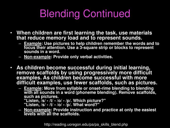 Blending Continued