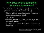 how does writing strengthen phonemic awareness