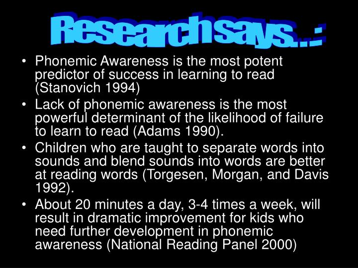 Research says…: