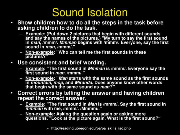 Sound Isolation
