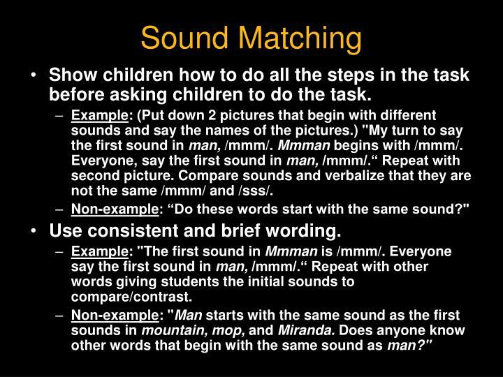 Sound Matching