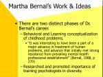 martha bernal s work ideas