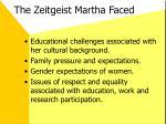 the zeitgeist martha faced