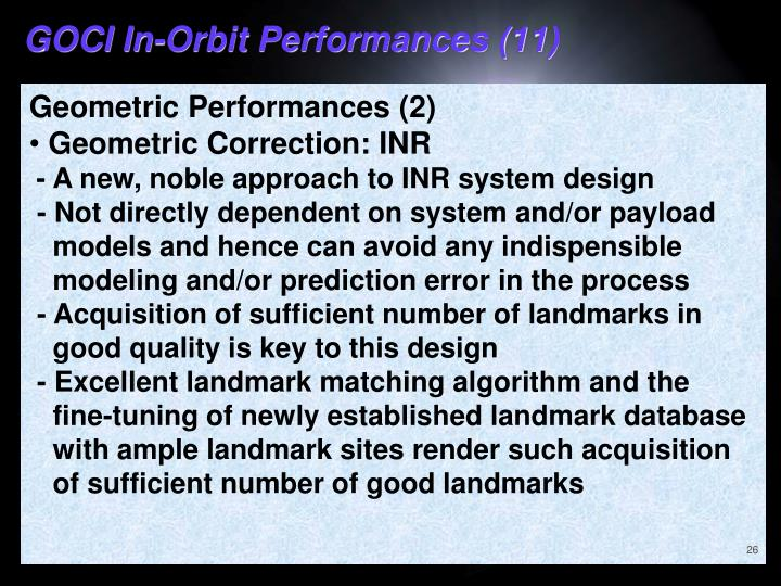 GOCI In-Orbit Performances (11)