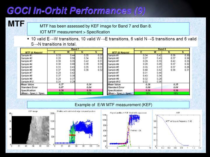 GOCI In-Orbit Performances (9)