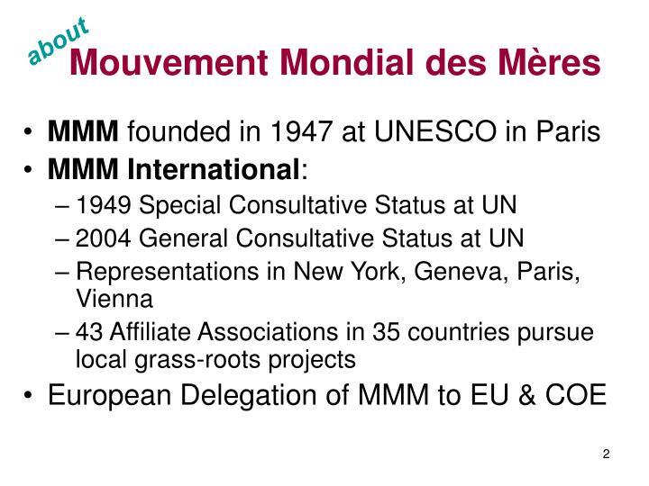 Mouvement Mondial des M