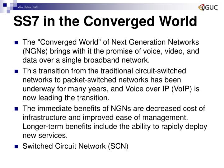 SS7 in the Converged World