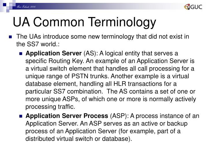 UA Common Terminology