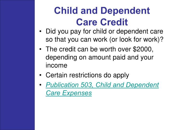 Child and Dependent