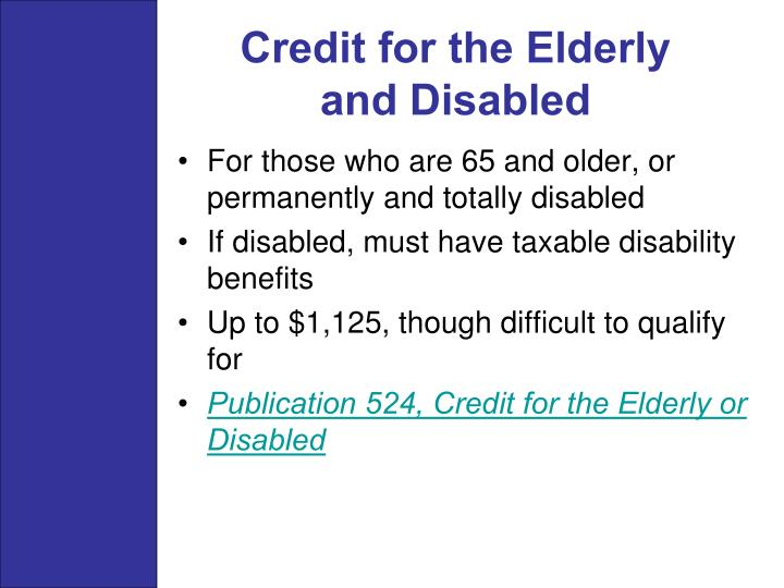 Credit for the Elderly