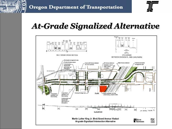 At-Grade Signalized Alternative