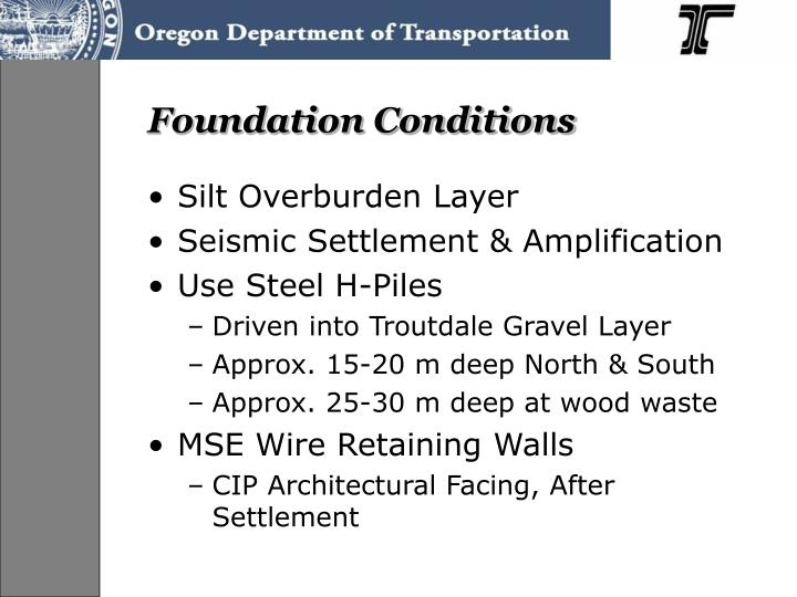Foundation Conditions