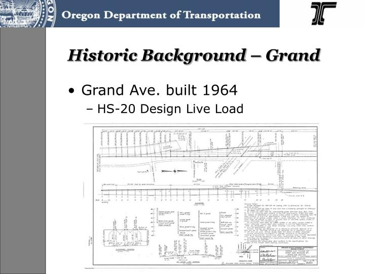 Historic Background – Grand