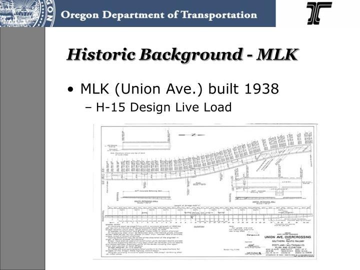 Historic Background - MLK