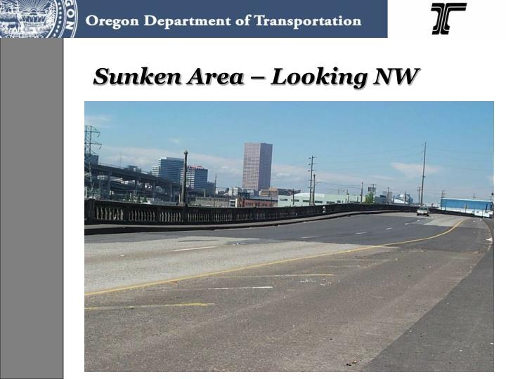 Sunken Area – Looking NW