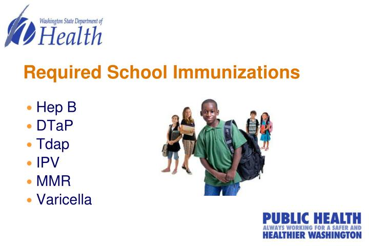 Required school immunizations