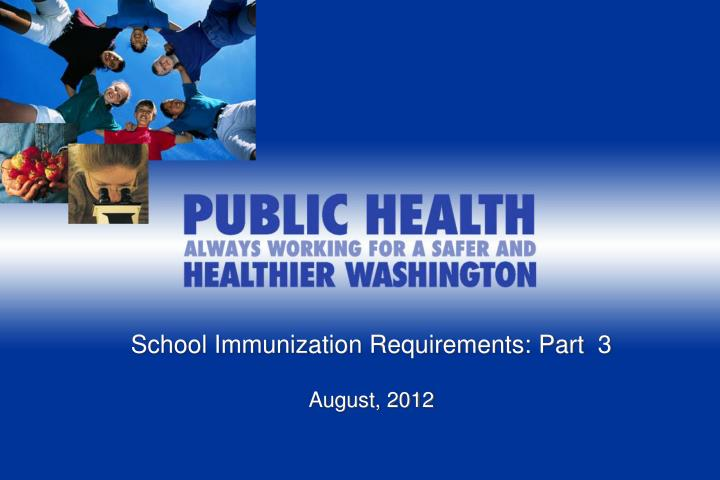 School Immunization Requirements: Part  3
