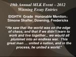 19th annual mlk event 2012 winning essay entries14