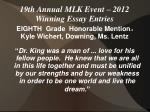 19th annual mlk event 2012 winning essay entries15