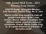 19th annual mlk event 2012 winning essay entries17