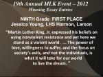 19th annual mlk event 2012 winning essay entries18