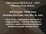19th annual mlk event 2012 winning essay entries2