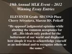 19th annual mlk event 2012 winning essay entries26