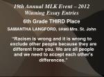 19th annual mlk event 2012 winning essay entries3