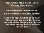 19th annual mlk event 2012 winning essay entries8